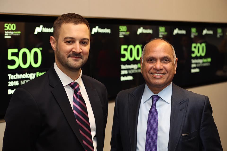 Satya Akula (right) and Bill Schaefer, Amyx, Inc.